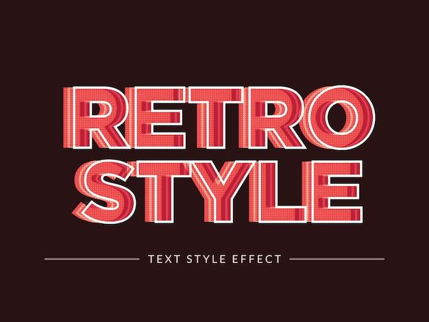 3d-retro tekststijleffect met lijnconcept