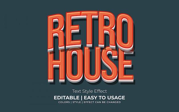 3d-retro tekststijleffect met oranje kleur
