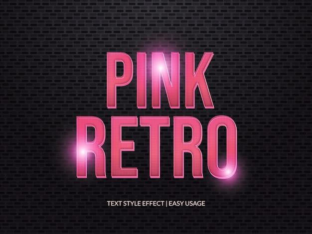 3d-retro tekststijleffect met textuur en roze verloop