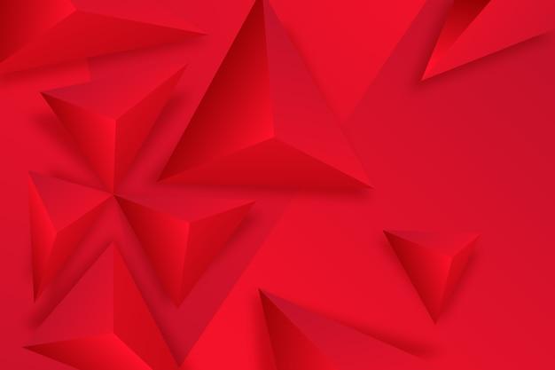 3d rode driehoeksachtergrond