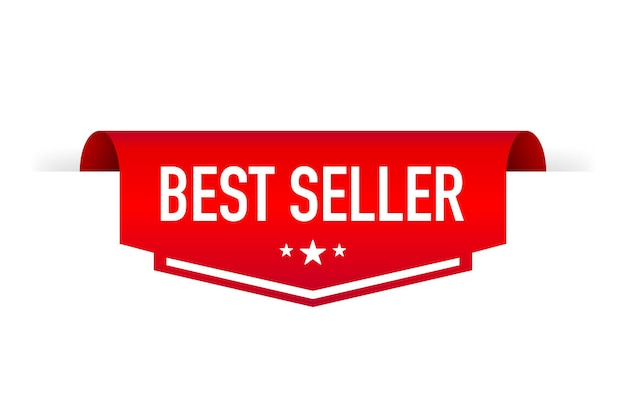 3d rode reclame bestseller sticker 3d vector product reclame verkoop banner badge