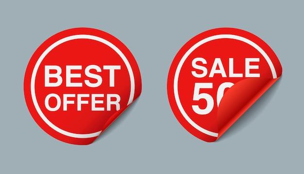 3d rode sticker prijs verkoop