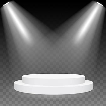 3d ronde podium podium, voetstuk, platform, scène.
