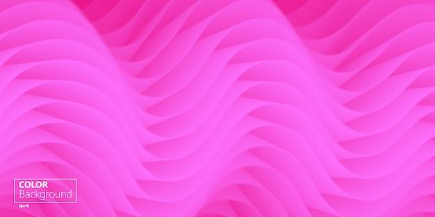 3d-roze achtergrond. bestemmingspagina. vloeiende vorm.