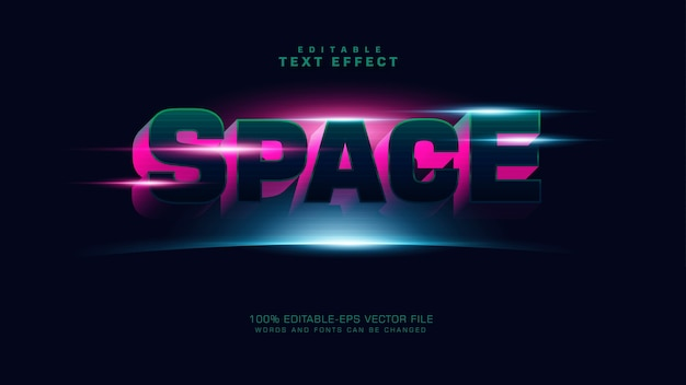 3d-ruimteteksteffect
