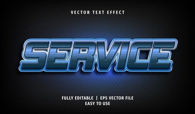 3d-serviceteksteffect, bewerkbare tekststijl
