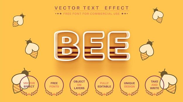 3d-slagbij bewerk teksteffect bewerkbare lettertypestijl