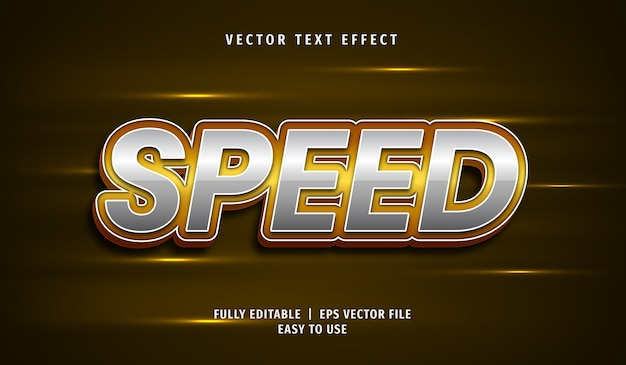 3d-snelheidsteksteffect, bewerkbare tekststijl