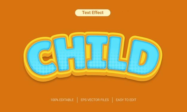 3d-speelgoed leuke kinderen tekst stijl effect