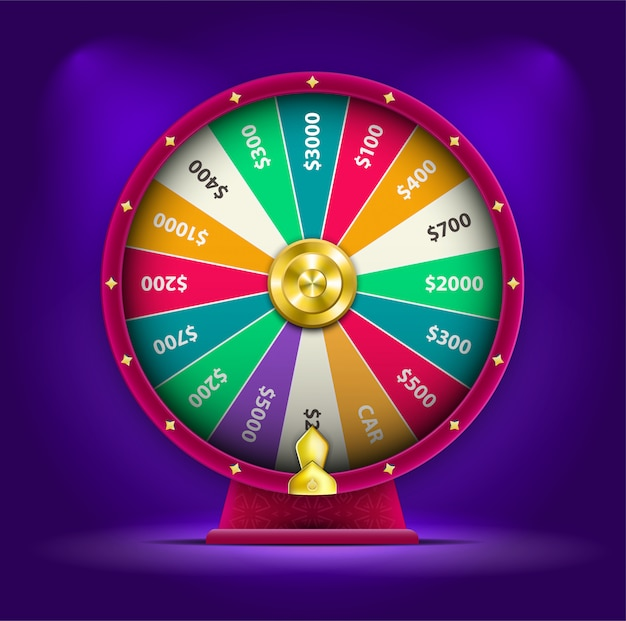 3d spinning fortune wheel