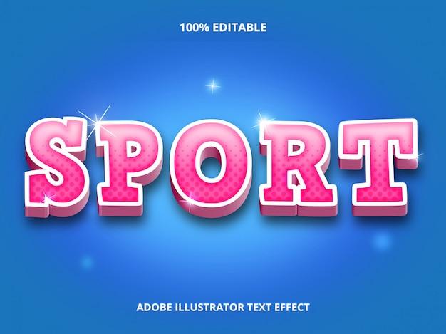 3d sport tekststijl - bewerkbaar lettertype-effect