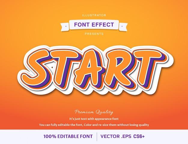 3d-start - lettertype-effect