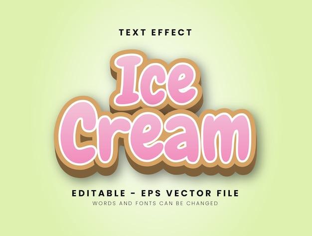3d-stijl ijs teksteffect