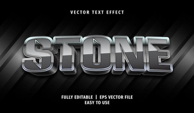 3d stone text-effect, bewerkbare tekststijl