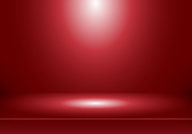 3d studiokamer rode achtergrond