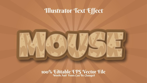 3d-teksteffect muis bewerkbare premium