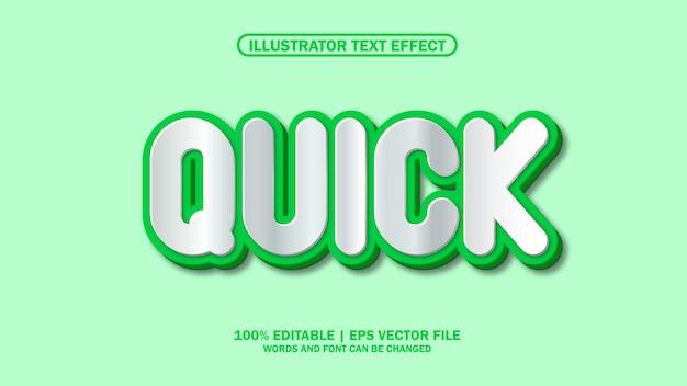 3d-teksteffect snel premium