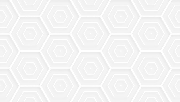 3d van het stijl hexagonaal wit patroon ontwerp als achtergrond