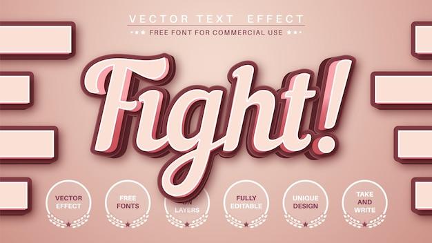 3d vechtteksteffect