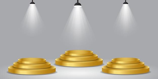 3d-vector gouden podiumrang