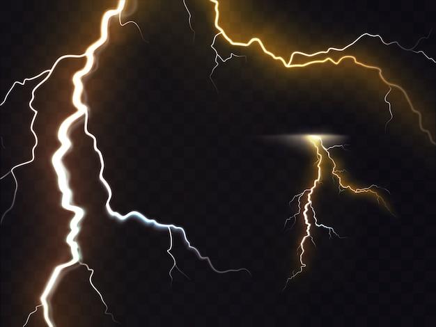 3d-vector realistische illustratie van bliksemflits