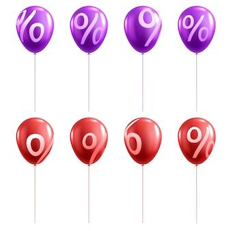 3d-verkoop ballon met procent