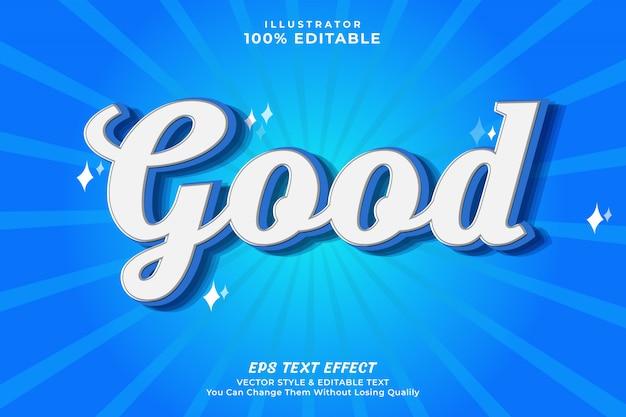 3d-vet bewerkbaar tekststijleffect - goed teksteffect