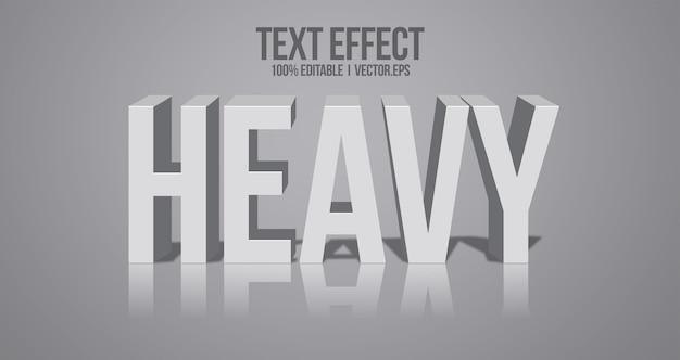 3d vet teksteffect grafische stijl laag lettertype stijl