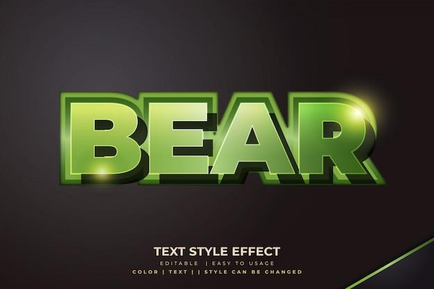 3d-vetgedrukte stijlstijleffect met groen verloop