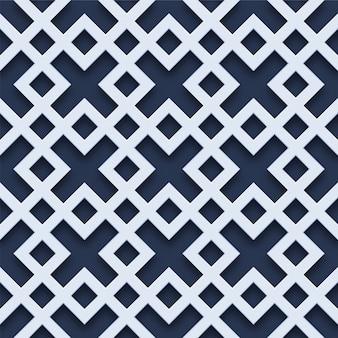 3d-vierkante geometrische naadloze patroon
