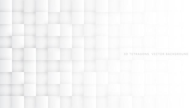 3d-vierkanten technologie witte abstracte achtergrond