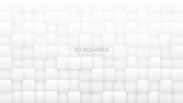 3d-vierkanten witte abstracte achtergrond