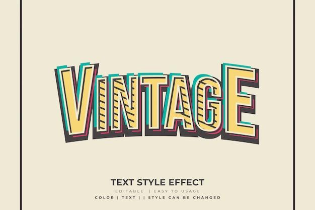 3d-vintage tekststijleffect met schuine concept