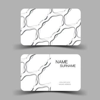 3d visitekaartje sjabloon papier knippen kunst stye bewerkbare vector ontwerp illustratie eps10