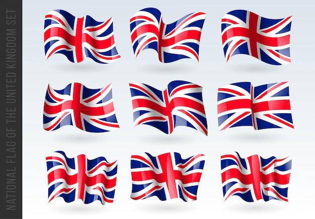 3d-vlag van het verenigd koninkrijk, groot-brittannië