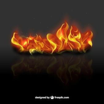 3d vlammen van de brand