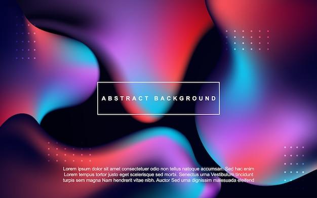 3d vloeibare abstracte achtergrond