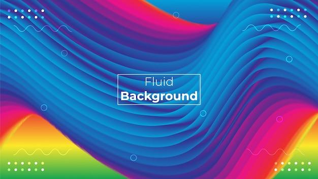 3d vloeibare kleurrijke vorm abstracte achtergrond