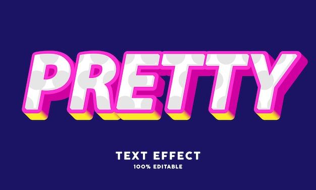 3d vrij roze geel teksteffect