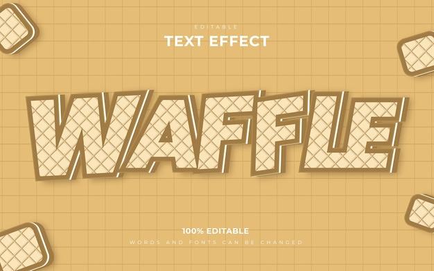 3d-wafel bewerkbare teksteffecten