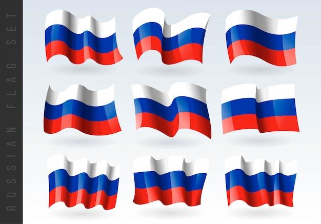 3d wapperende vlag van rusland.