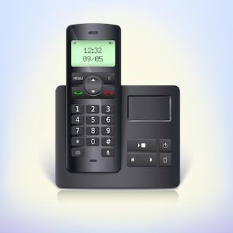3d-weergave van een draadloze telefoon