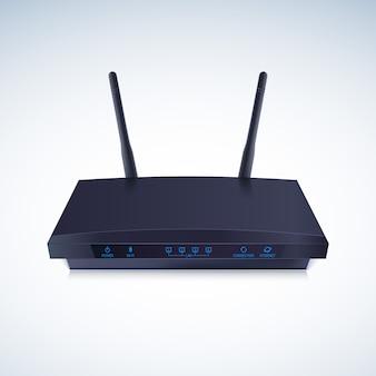 3d-weergave van een realistische draadloze router