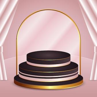 3d-weergave van prachtig podiumontwerp