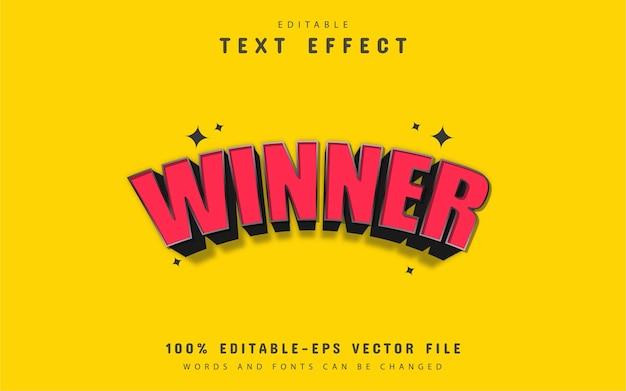3d winnaar teksteffect