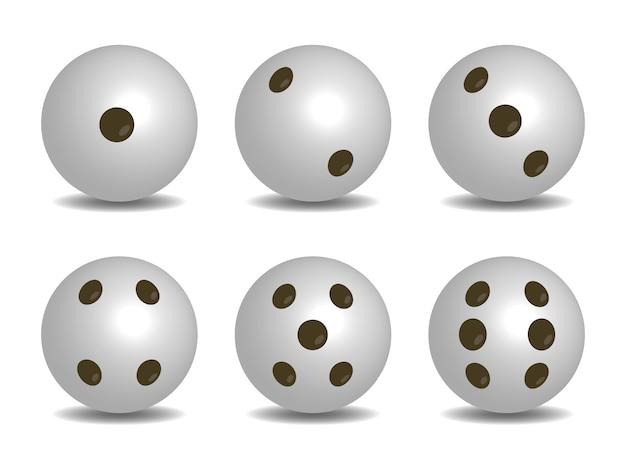 3d-witte kleur vector dobbelstenen