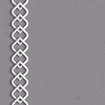 3d-witte rand in arabische stijl