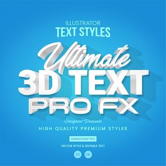 3d-witte tekststijl