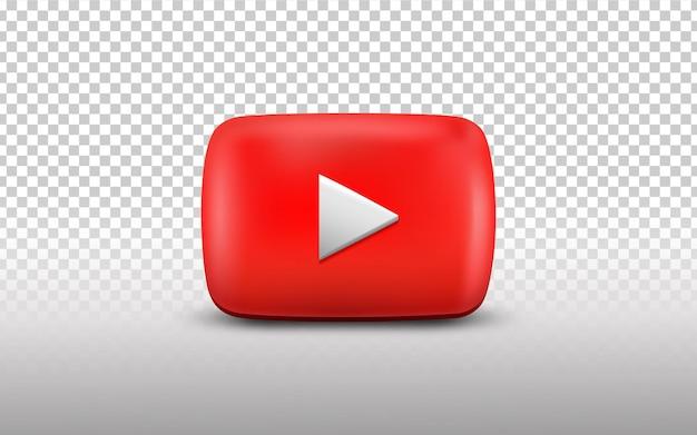 3d youtube-logo