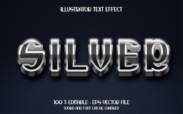 3d zilveren teksteffect